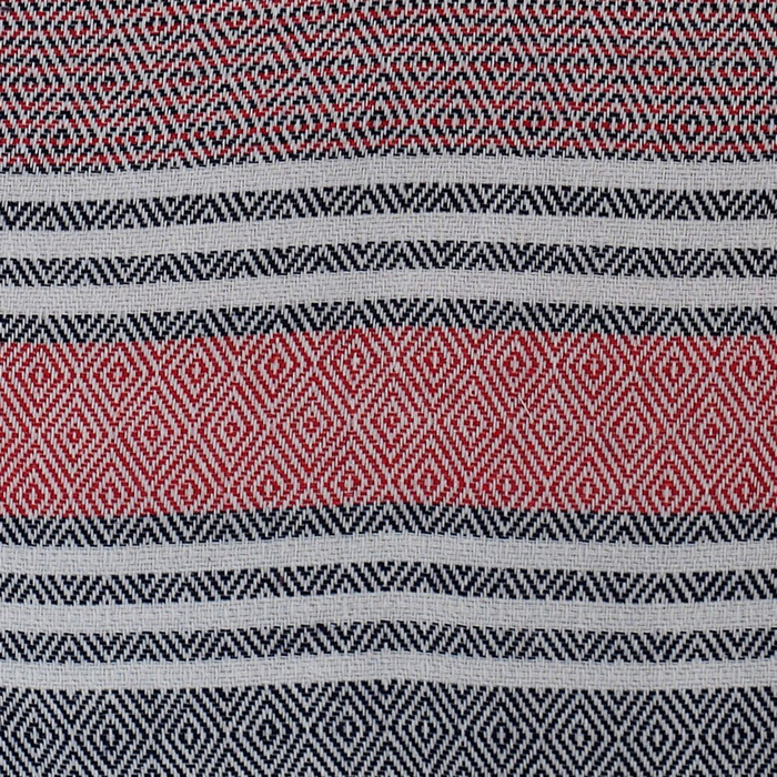 Eponj Home Anna Pike Örtü - ElmasKırmızı-Siyah