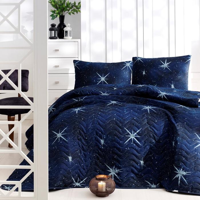 Eponj Home MegaStar Tek Kişilik Yatak Örtüsü Seti - Lacivert