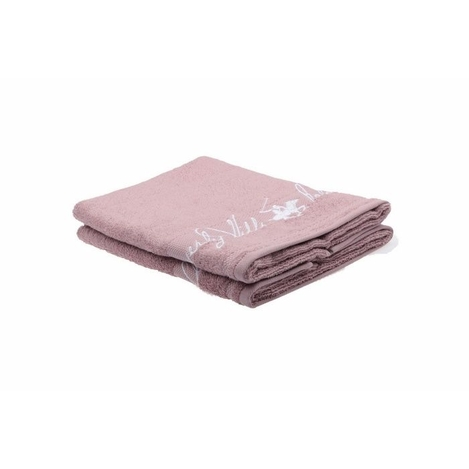 Resim  Beverly Hills Polo Club Polo Havlu Seti 50x100(2) Hand&Towel Bhpc Nakış Gülkurusu