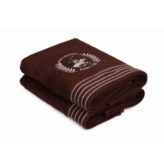 Resim  Beverly Hills Polo Club Polo Havlu Seti 50x90cm (2) Hand&Towel 5Çizgili Kahve