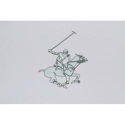 Beverly Hills Polo Club Polo Plaj Havlusu Saçaklı 90x170(1) Mint Logo Baskılı Beyaz