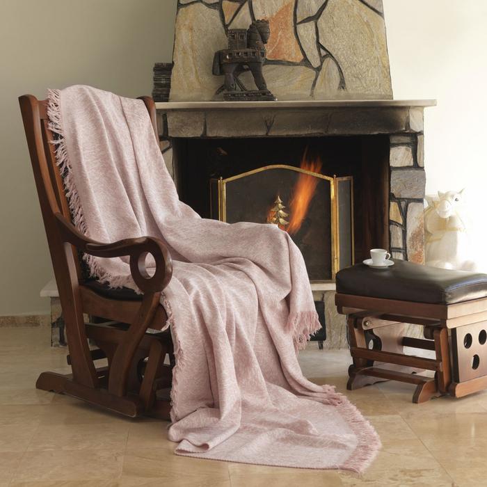 Eponj Home Linen Keten Koltuk Örtüsü (Pudra) - 170x220 cm