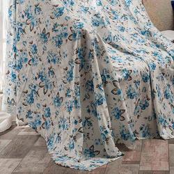 Eponj Home Gül Kaymaz Koltuk Örtüsü (Mavi) - 175x210 cm