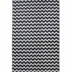 Saray 010 Lena Zikzak Modern Halı (Siyah / Beyaz) - 150x230 cm