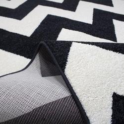 Saray 013 Lena Modern Halı (Siyah / Beyaz) - 150x230 cm