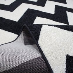 Saray 013 Lena Modern Halı (Siyah/Beyaz) - 120x170 cm