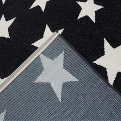 Saray 014 Lena Yıldızlı Modern Halı (Siyah/Beyaz) - 200x300 cm