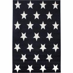 Saray 014 Lena Yıldızlı Modern Halı (Siyah/Beyaz) - 150x230 cm