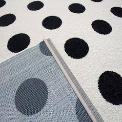 Saray 015 Lena Puantiyeli Modern Halı (Siyah/Beyaz) - 150x230 cm