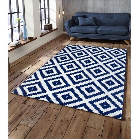 Saray Halı Tuana 012 150x230 cm Mozaik Desen Lacivert Modern Halı