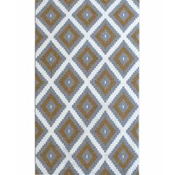 Saray Halı Tuana 012 Mozaik Desen Modern Halı (Gold / Gri) - 120x170 cm