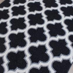 Saray Halı Tuana 031 200x300 cm Karo Desen Siyah / Gri Modern Halı