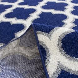 Saray Halı Tuana 031 200x300 cm Karo Desen Lacivert / Gri Modern Halı