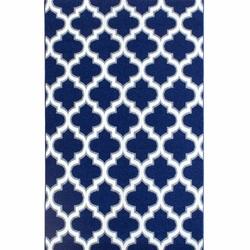 Saray Halı Tuana 031 150x230 cm Karo Desen Lacivert / Gri Modern Halı