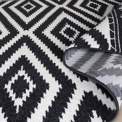 Saray Halı Tuana 034 150x230 cm Etnik Kilim Desenli Siyah Modern Halı