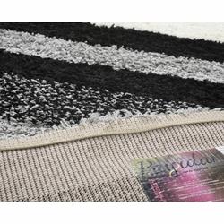 Payidar Shaggy B477NM Çizgili Halı (Gri / Siyah) - 80x150 cm
