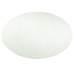 Payidar Shaggy 9000NM Daire Halı (Beyaz) - 120x120 cm