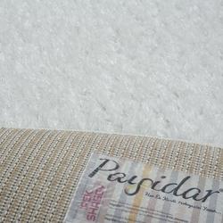 Payidar Beyaz İpek Shaggy Halı 9000NM 160x160 cm