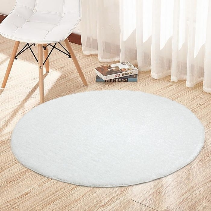 Resim  Payidar Beyaz İpek Shaggy Halı 9000NM 120x120 cm