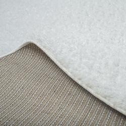 Payidar Beyaz İpek Shaggy Halı 9000NM 120x120 cm