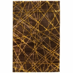 Payidar Gold G3167M Modern Halı (Işın Desen - Kahverengi / Gold) - 120x180 cm