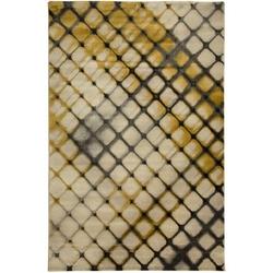 Payidar Lorav G0061M 80x150 cm Doku Desen Koyu Gri / Gold Modern Halı
