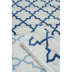 Payidar Vaveyla 1668A 120x170 cm Mavi İpek Desen Modern Halı