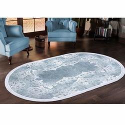 Payidar Zengi HA93 Oval Saçaklı Halı (Mavi) - 150x233 cm