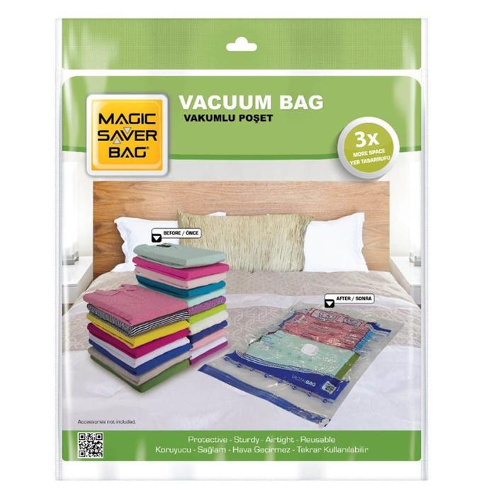 Magic Saver Bag 2'li Vakumlu Poşet Seti - XXL