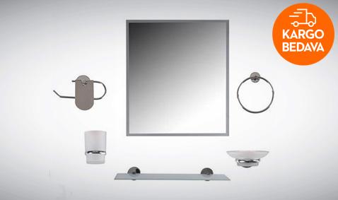 Dibanyo Amasra Aynalı Banyo Seti 39,99 TL