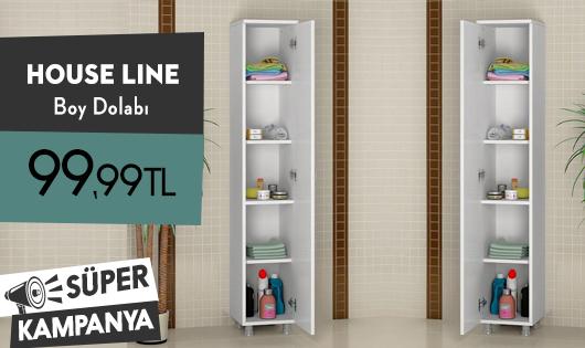 House Line Tek Kapaklı 5 Raflı Çok Amaçlı Dolap 99,99 TL