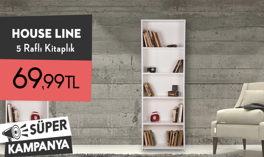House Line 5 Raflı Kitaplık 69,99 TL