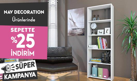 Nav Decoration Ürünlerinde Sepette %25 İndirim