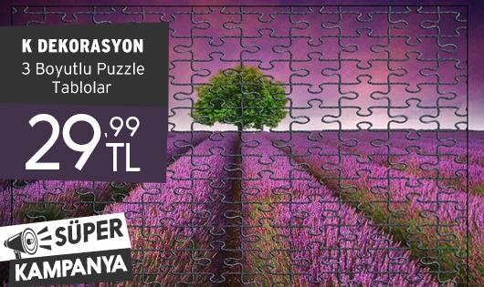 K Dekorasyon 3 Boyutlu Puzzle Tablolar 29,99 TL