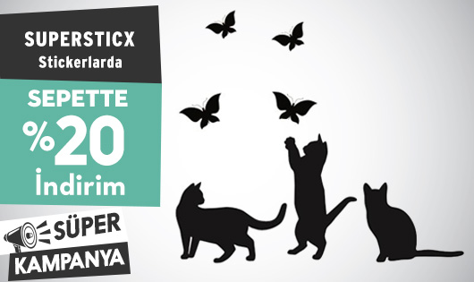 Supersticx Stickerlarda Sepette %20 İndirim