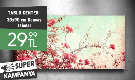 Tablo Center 30x90 cm Kanvas Tabolar 29,99 TL