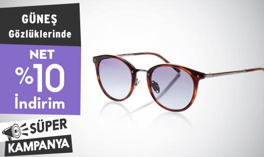 Güneş Gözlüklerinde Net %10 İndirim