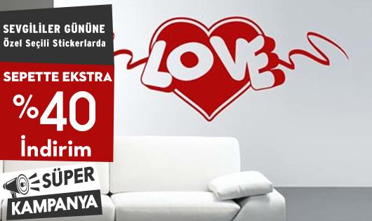 Sevgililer Gününe Özel Seçili Stickerlarda Sepette Ekstra %40 İndirim