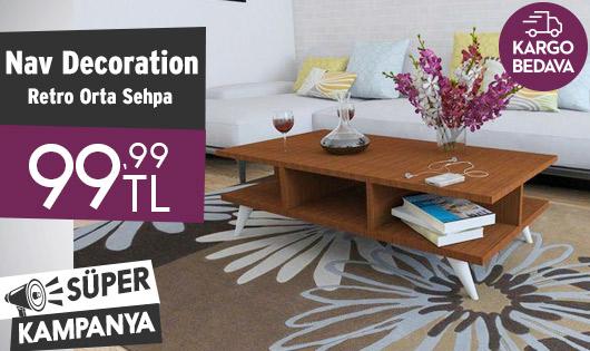 Nav Decoration Retro Orta Sehpa 99,99 TL