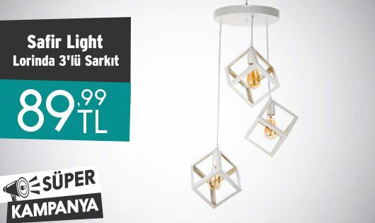 Safir Light Lorinda 3'lü Sarkıt 89,99 TL