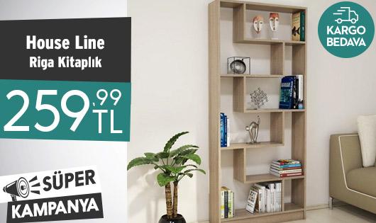 House Line Riga Kitaplık 259,99 TL