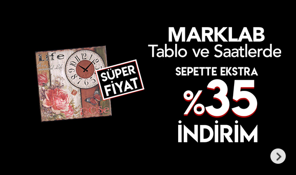 Marklab Tablo ve Saatlerde Sepette %35 İndirim