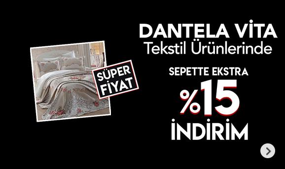 Dantela Vita Tekstili Ürünlerinde Sepette %15 İndirim