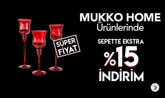 Mukko Home Ürünlerinde Sepette %15 İndirim