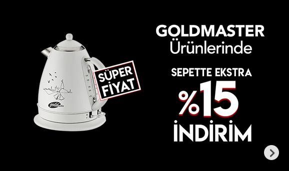 Goldmaster Ürünlerinde Sepette %15 İndirim