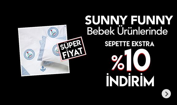 Sunny Funny Bebek Ürünlerinde Sepette %10 İndirim