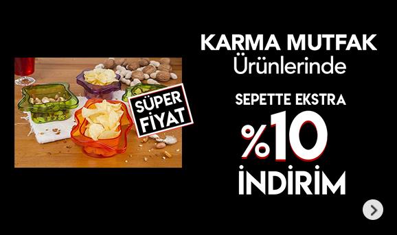Karma Mutfak ürünlerinde Sepette %10 İndirim