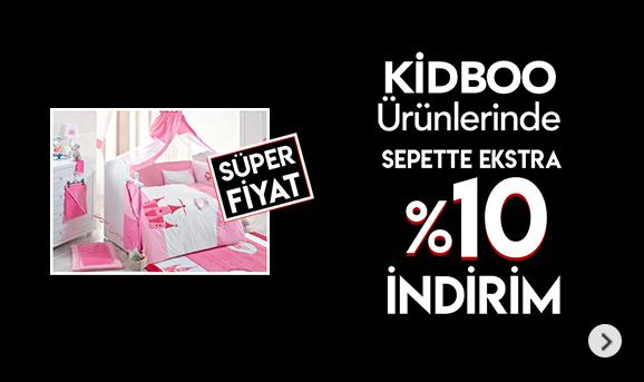 Kidboo Ürünlerinde Sepette %10 İndirim