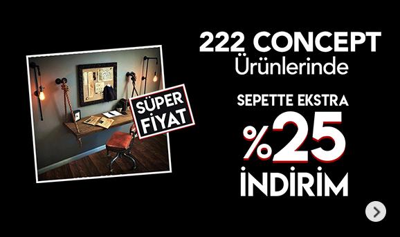222 Concept Ürünlerinde Sepette %25 İndirim