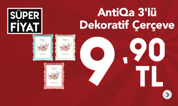AntiQa 3'lü Dekoratif Çerçeve 9,90 TL